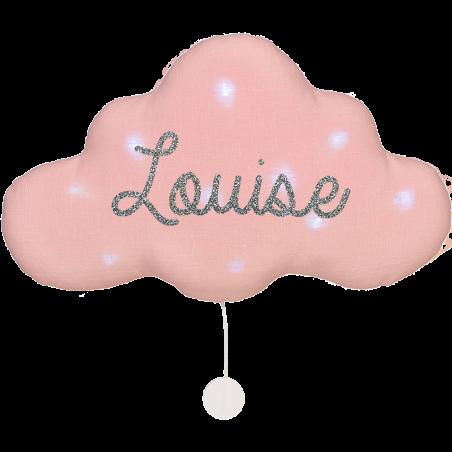 Veilleuse musicale nuage lin personnalisée