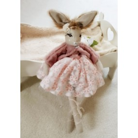 poupee lapin rose-poupee moderne