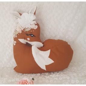 theme renard - coussin deco lit