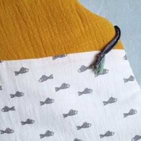 gigoteuse coton imprime poissons