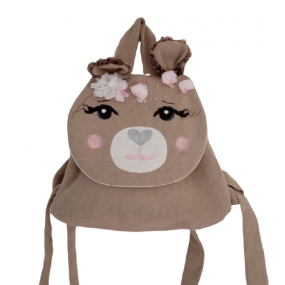 sac a dos ours - sac maternelle -theme animal foret