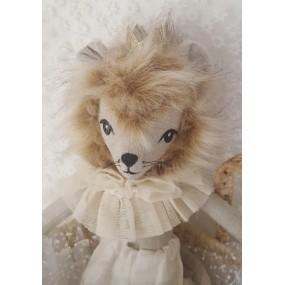 peluche deco - jouet lion fourrure
