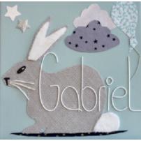 tableau lapin personnalise - tableau cadeau naissance