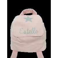 sac a dos personnalise - sac a dos prenom - sac fille rose etoile - sac fille personnalisable - cadeau prenom estelle