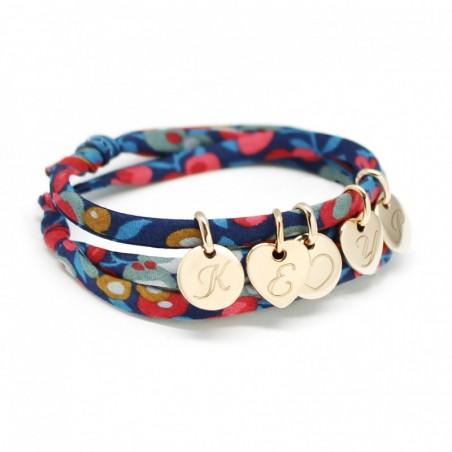 Bracelet personnalisé - Liberty mini charms - Argent ou Plaqué or