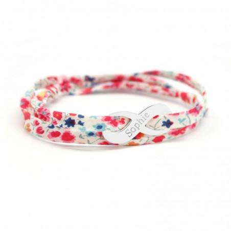 Bracelet personnalisé - Liberty infini - Argent ou Plaqué or