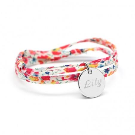 Bracelet personnalisé - Liberty médaille - Argent ou Plaqué or