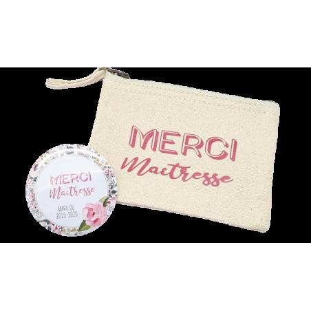Lot Pochette + Miroir - Cadeau Maîtresse personnalisés