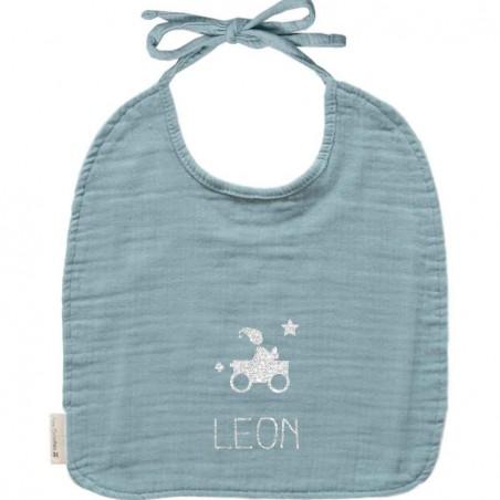 Bavoir bébé personnalisé - Gaze de coton