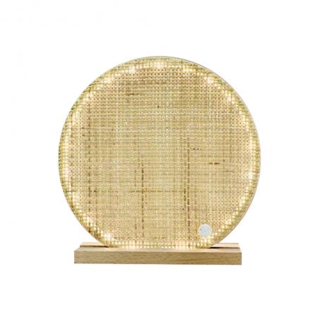 Lampe en cannage - Médaillon personnalisé