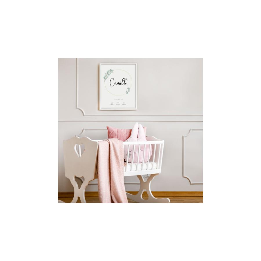 affiche-naissance-fille-personnalisée