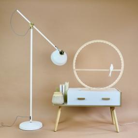 Lampe cercle en bois...