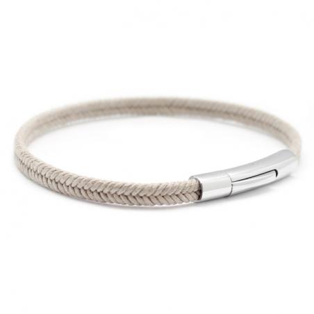 Bracelet personnalisé Homme - Le Tressé Beige