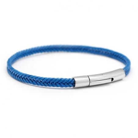 Bracelet personnalisé Homme - Le Tressé Bleu Roi