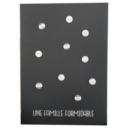 Pêle-mêle magnétique personnalisé - 10 magnets - 50 x 70cm