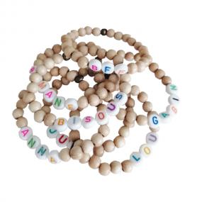 Bracelet perles-lettres -...