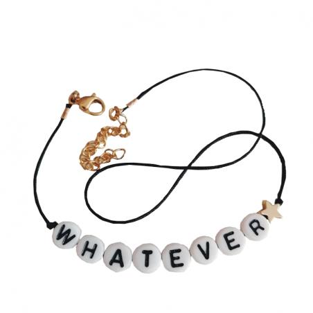 Bracelet perles-lettres personnalisé - Basic + 1 symbole doré à l'or fin