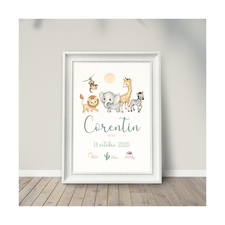 affiche-naissance-bebe-personnalisee-animaux
