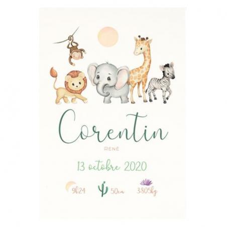 Affiche naissance personnalisée avec dessin