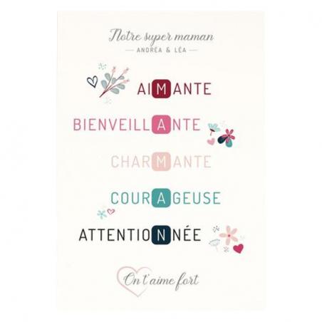 Affiche maman personnalisée