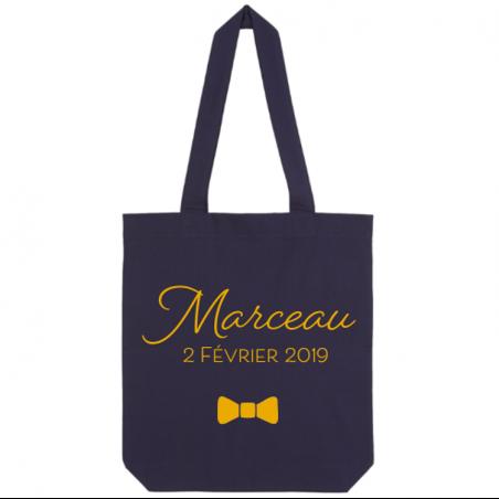 Tote bag personnalisé - Prénom + date de naissance