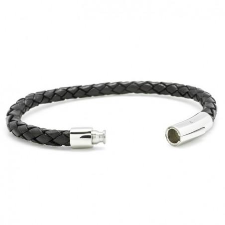 Bracelet homme acier & cuir - L'épicurien