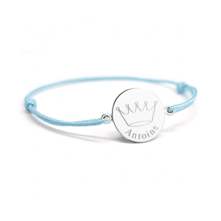 bracelet-noeud-coulissant-cordon-argent-personnalise-bebe-enfant