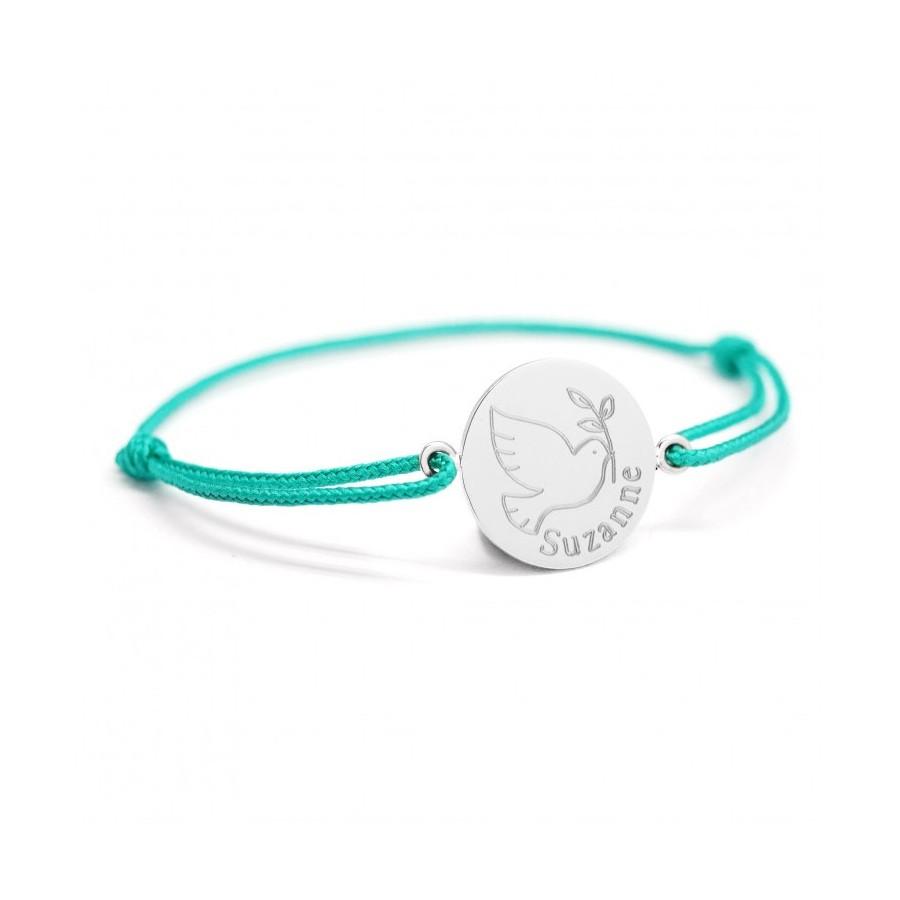 bracelet-personnalisé-enfant-bebe-colombe-cadeau-baptème