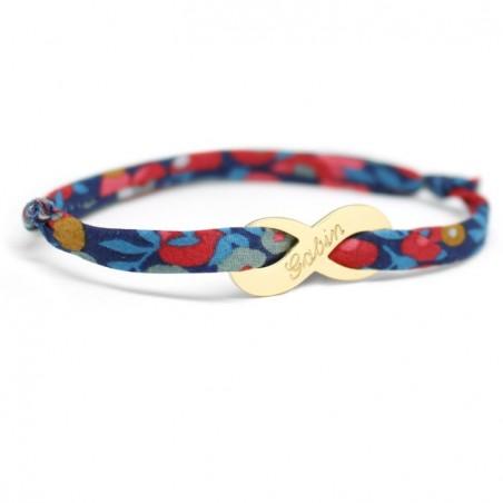 Bracelet liberty personnalisé - Infini plaqué or