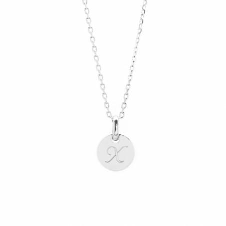 Collier personnalisé - Mini charm - Argent/Plaqué or