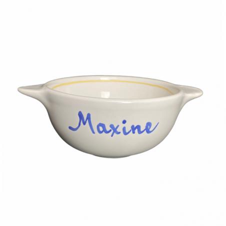 Bol breton déjà personnalisé au prénom de Maxine - Modèle bord de mer