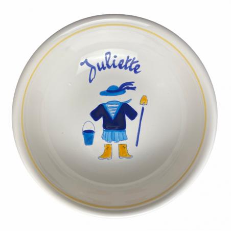 Coupelle bretonne déjà personnalisée au prénom de Juliette - Modèle bord de mer