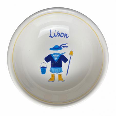 Coupelle bretonne déjà personnalisée au prénom de Lison - Modèle bord de mer