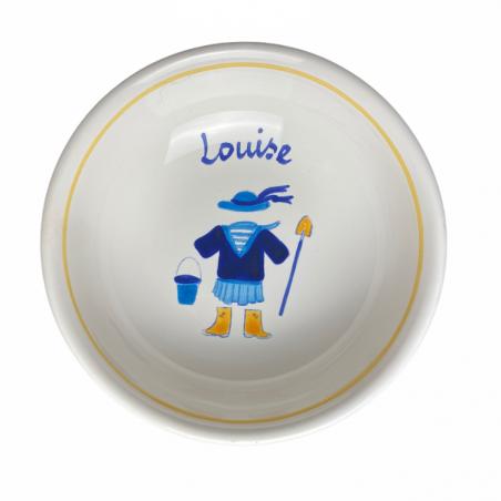 Coupelle bretonne déjà personnalisée au prénom de Louise - Modèle bord de mer