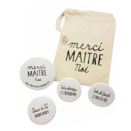 Merci maîtresse/maître - Pochon + Magnets