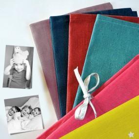 cadeau personnalise - album photo tissu