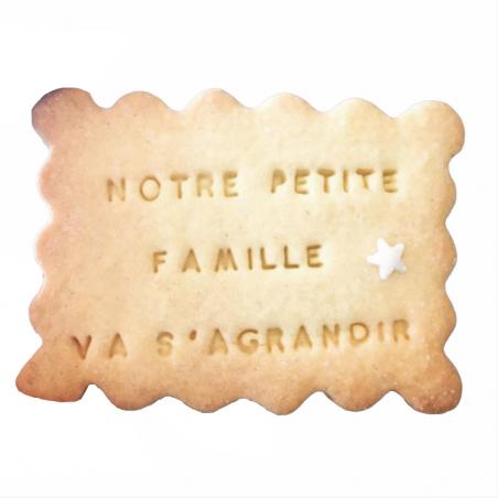 Biscuit personnalisé annonce bébé