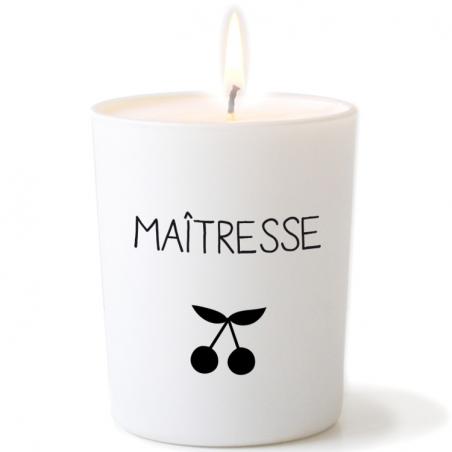 Bougie de Provence parfumée personnalisée - Modèle cadeau maîtresse