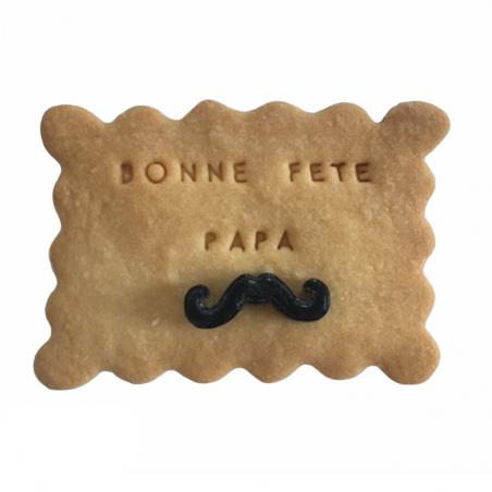 Biscuit personnalisé Fête Des Pères - Sucre moustache