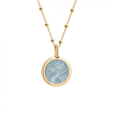 Collier pierre fine personnalisé - Chaine perlée - Plaqué or