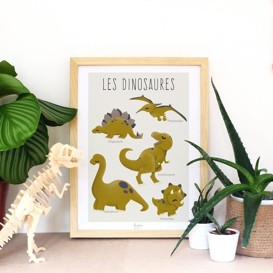 affiche-dinosaure-personnalisée