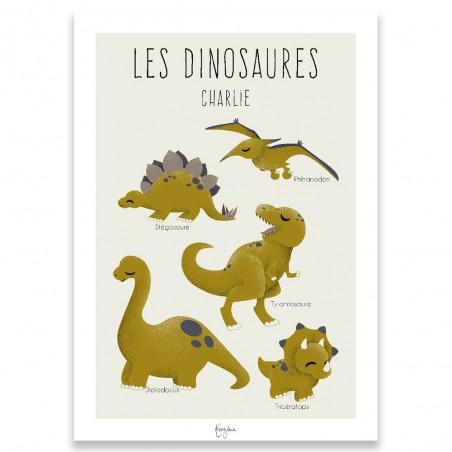 Affiche dinosaure personnalisée