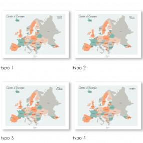 Affiche carte de l'Europe...