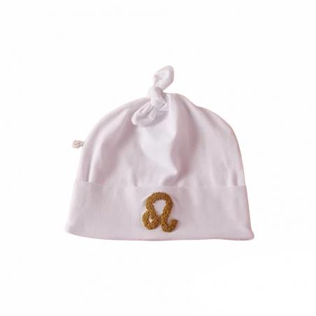 Bonnet bébé personnalisé blanc - Modèle Astro