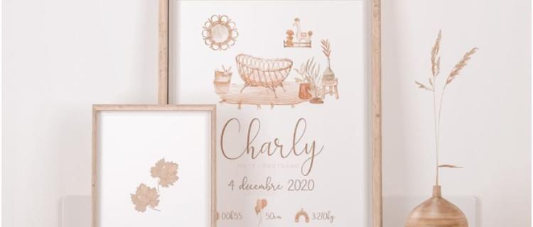 Deco chambre bebe - Cadeau naissance personnalisé